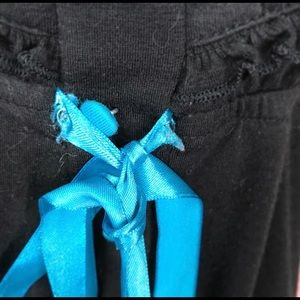 Sweet Love Tops - Sweet Love Black Babydoll Top w/ Blue Ribbon